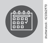 calendar line icon  outline...   Shutterstock .eps vector #421062970