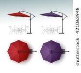 Vector Set Of Red Violet Purpl...