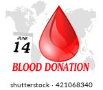 world blood donation day | Shutterstock . vector #421068340