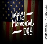 happy memorial day vector... | Shutterstock .eps vector #421070668