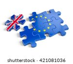euro puzzle and one puzzle... | Shutterstock . vector #421081036