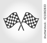 vector checkered flags icons... | Shutterstock .eps vector #421082833