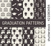 graduation pattern collection.... | Shutterstock .eps vector #421083454