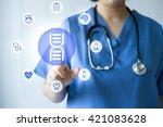 medicine doctor   nurse working ... | Shutterstock . vector #421083628