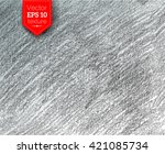 hand drawn vector graphite... | Shutterstock .eps vector #421085734