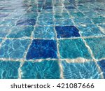 swimming pool background | Shutterstock . vector #421087666