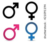sex symbolic icons on white... | Shutterstock . vector #421091194