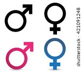 sex symbolic icons on white... | Shutterstock .eps vector #421091248