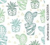 vector seamless pattern. vector ... | Shutterstock .eps vector #421100554