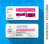 amusement park ticket card.... | Shutterstock .eps vector #421112866