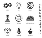 business process icons | Shutterstock .eps vector #421117690