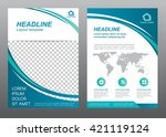 layout flyer template size a4... | Shutterstock .eps vector #421119124