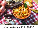 tripe florentine  typical... | Shutterstock . vector #421120930