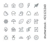 nature cool vector icons 2 | Shutterstock .eps vector #421121260