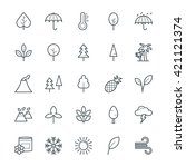 nature cool vector icons 1 | Shutterstock .eps vector #421121374