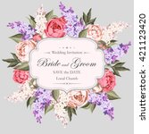vintage wedding invitation | Shutterstock .eps vector #421123420