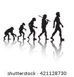 evolution of men's fashion   Shutterstock .eps vector #421128730