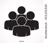 black four people  | Shutterstock .eps vector #421131520