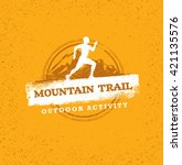 outdoor adventure trail... | Shutterstock .eps vector #421135576