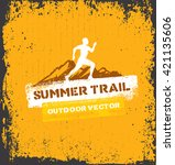 outdoor adventure trail... | Shutterstock .eps vector #421135606