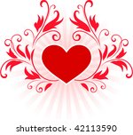 romantic hearts valentine's day ... | Shutterstock .eps vector #42113590