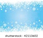 Abstract Winter Blue Backgroun...