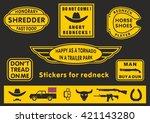 stickers for rednecks | Shutterstock .eps vector #421143280