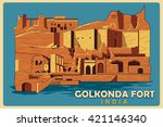 Vintage Poster Of Golkonda For...