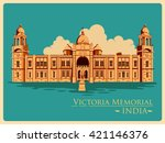 vintage poster of victoria... | Shutterstock .eps vector #421146376