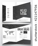 set of business templates for... | Shutterstock .eps vector #421147936