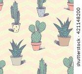 cactus vector print for t shirt ...   Shutterstock .eps vector #421148200
