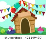Illustration Of A Dog House...