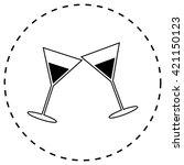 martini glass   Shutterstock .eps vector #421150123