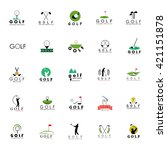 golf icons set   isolated on... | Shutterstock .eps vector #421151878