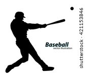 Baseball Player Silhouette....