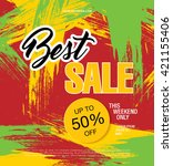 best sale banner   Shutterstock .eps vector #421155406