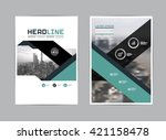 template design  layout ... | Shutterstock .eps vector #421158478