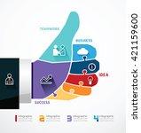 fingers shape good ok  travel... | Shutterstock .eps vector #421159600