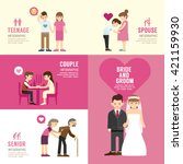 family people flat design with... | Shutterstock .eps vector #421159930