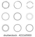 round decorative circle... | Shutterstock .eps vector #421165003