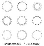 round decorative circle...   Shutterstock .eps vector #421165009