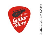 Guitar  Music Store Vector Log...