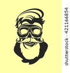 dead pilot vector image of... | Shutterstock .eps vector #421166854