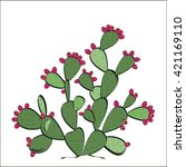 prickly pear vector. prickly... | Shutterstock .eps vector #421169110