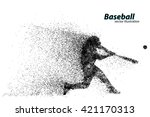 Silhouette Of A Baseball Playe...