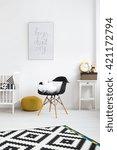 interior of a modern baby room...   Shutterstock . vector #421172794