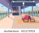 illustration featuring an empty ... | Shutterstock .eps vector #421172923