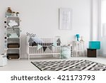 bright baby room in... | Shutterstock . vector #421173793