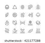 simple set of fabric feature... | Shutterstock .eps vector #421177288