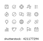 simple set of interface related ... | Shutterstock .eps vector #421177294